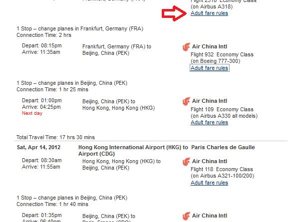 Travelocity: Where are the Fare Rules?