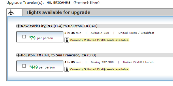 First class for $80!