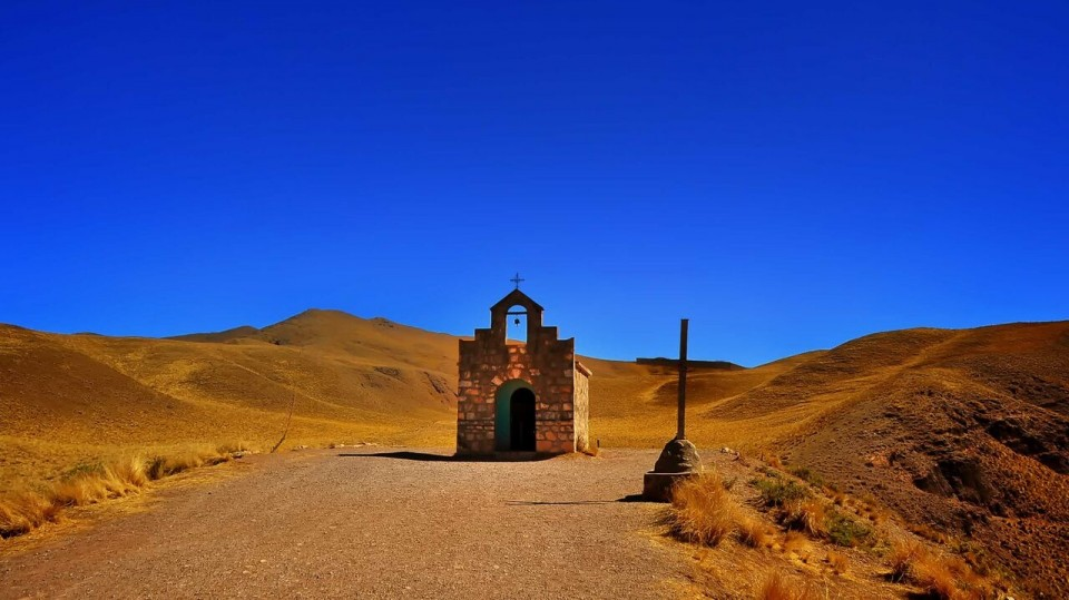 Up in the Argentinian Andes.