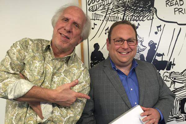 Gary Leff, right, with Randy Peterson, left, the founder of FlyerTalk.