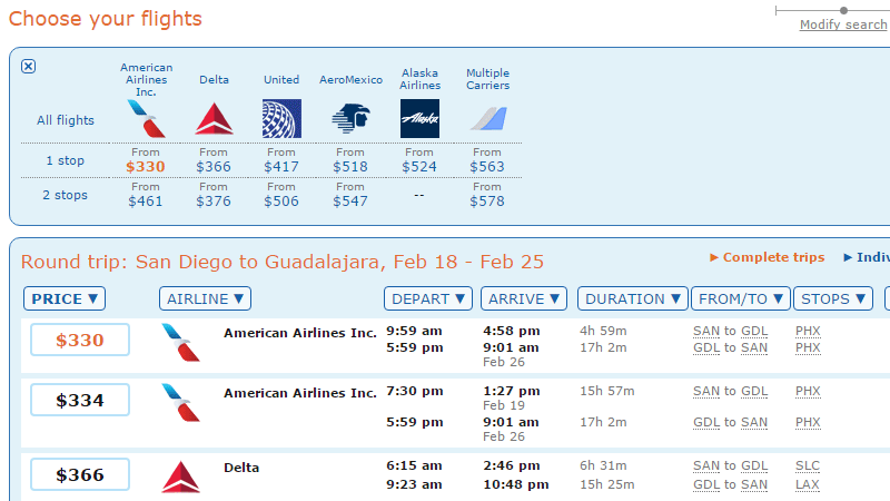 airline tickets to guadalajara mexico for cheap